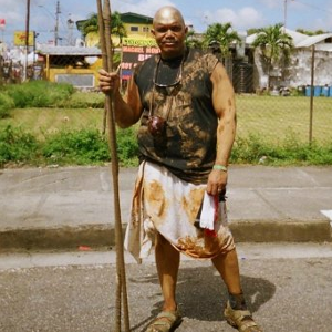 Dave in Trinidad during carnival.